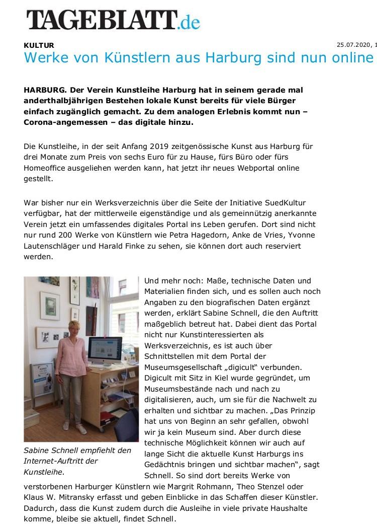 Werke von Künstlern aus Harburg sind nun online